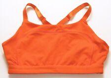 Fabletics Womens Sports Bra Safety Orange Sz Large/XL Cutout Clasp Back Coverage