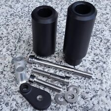 2005-2006 Kawasaki Ninja ZX6 ZX6R ZX6RR NO-CUT BLACK FRAME SLIDERS