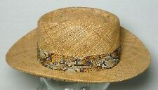 Vintage Stetson Straw Havana Style Vented Outdoor Hat Small