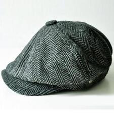 Cappello uomo gatsby Coppola newsboy Berretto grigio spina pesce golf baseball