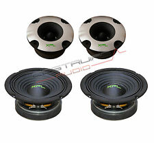 "XPL KIT - 2x TWEETER bullet XTW2501 2x WOOFER XW06-03 165mm 6,5"" 400W  SPL Auto"