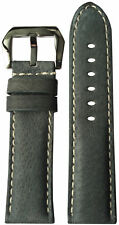 24mm XL RIOS1931 for Panatime Boulder Grey Leather Watch Strap for Panerai 24x22