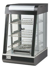 COMMERCIAL HOT FOOD SNACK/ PIE GLASS DISPLAY WARMER SHOWCASE LIGHT INSIDED