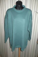 VINTAGE 80'S ~ SUSSAN ~ Green Tunic JUMPER/TOP  * Size XL  *