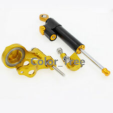 Gold Steering Damper Stabilizer Bracket Kit Mount For YAMAHA R6 06 07 08 09