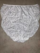 Vtg Warners Shiny Second Skin White Bright Stripes Sz 7 Brief Panties 55131