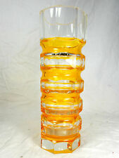 Rare seltene 70´s Oldrich Lipsky design EXBOR glassworks vase / Glas Vase  24 cm