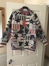 Tommy Hilfiger Ladies Patchwork Print Bomber, Size 10, Bnwot