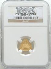 2007 Bermuda Cristobal Colon navire $3 trois Dollar Gold Proof Coin NGC PF69 UC