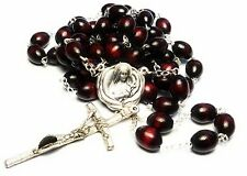 Therese Child Jesus Lisieux earth from coffin cherry color relic rosary HIV AIDS