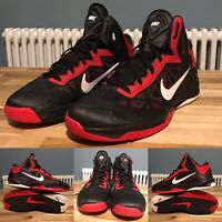 Nike Trainers UK9 Zoom Hyperchaos Black Red White Good Condition MN:536841-001