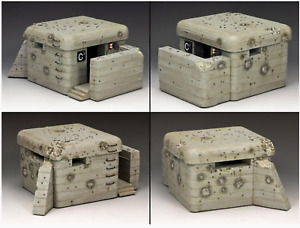 WWII German Atlantic Wall Normandy Bunker by King & Country