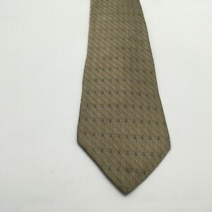 "Arrow Silk Tie Gold With Light Blue Design 60"" X 3.75"" Vintage Men's Accessory"