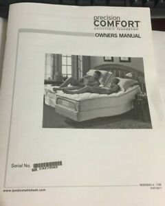 Sleep Number Precision Comfort Adjustable Foundation Copy of Owners Manual