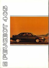 Peugeot 405 1991 catalogue brochure français Belgique