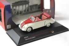 1:43 IST Models IFA F9 Cabriolet white/ red 1953