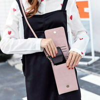 Mobile Phone Shoulder Bag Crossbody Purse PU Leather Card Holder Wallet Case Jia