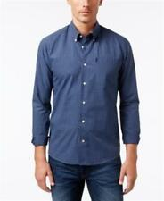 Barbour Country Gingham Button Down Shirt Blue Mens Size XL New