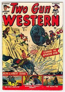 TWO GUN WESTERN #9 GOLDEN AGE MARVEL COMIC BOOK 1951 APACHE KID FR/G 1.5