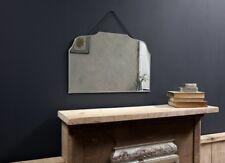 Large Vintage Rectangular Mirror Nkuku 40 x 60cm Zinc Chain Hanging Wall Mounted