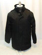 Wellensteyn Black Zip Front Jacket Removable Hood Men's Small Meshed Lining #21