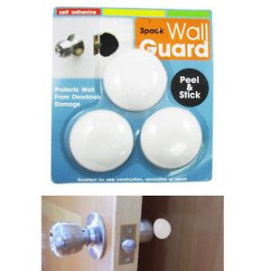 3-PACK Self-Adhesive Door Knob Wall Protector Shield Guard Stopper SAME-DAY SHIP