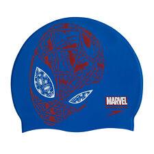 Speedo Marvel Spiderman Slogan Print Kids Swimming Cap