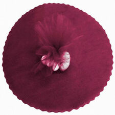 "50 Scalloped Tulle Circles 9"" Wedding Favor Wrap - Burgundy"