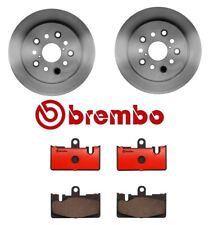 Pair Set of 2 Front Vented Coated Disc Brake Rotors Brembo for Lexus LS430 4.3L
