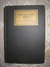 The Sun Also Rises ERNEST HEMINGWAY First Edition 1926 1st Issue STOPPPED