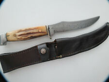 Vintage Case 523-5 Razor Edge Hunting Knife With Sheath 1930's? Good Condition