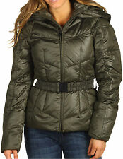The North Face Collar Back Down Hooded Jacket Womens M Fig Green New w Tags $280