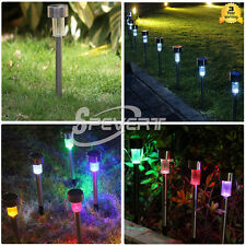 Outdoor Garden Stainless Steel LED Solar Path Landscape Yard Light Lawn Lamp