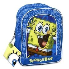 "Backpack 11"" Nickelodeon Sponge Bob School Bag Blue Grey NWT"