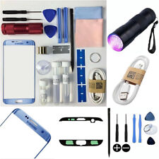 Samsung GALAXY S7 EDGE Replacement Outer Touch Screen Lens Repair Kit BLUE CORAL