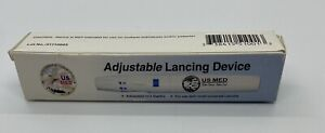 Premium Adjustable Lancing Device - 5 Settings - Fits Most Lancets