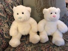 """BUILD A BEAR Plush 15"""" WHITE & BLUE BOY & PINK GIRL Twins Wedding Set -#C6"""