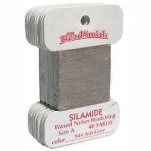 "Beading Thread Silamide Waxed Nylon Beadstring Size A (0.007"" 0.178mm)"