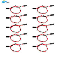 10pcs 2 pin F/F Dupont Cable Jumper Wire 20cm Female to Female Cord For Arduino