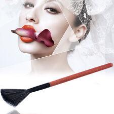 2Pc Slim Fan Brush Hair Blush Face Powder Foundation Cosmetic Makup Brush&l