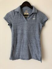 New Hollister Stretch Polo Shirt Top Tshirt Blue White Size XS S £24