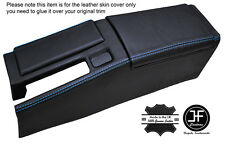BLUE STICH CENTRE CONSOLE & ARMREST LEATHER COVERS FOR HONDA CRX DEL SOL 92-98