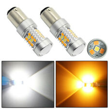 2xWhite/Amber High Power 28-SMD 1157 Switchback LED Bulbs For Turn Signal Lights