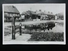 Hertfordshire ALDBURY The Stocks c1940's Old RP Postcard by Raphael Tuck & Sons