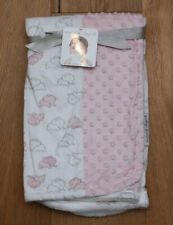 New ListingBlankets & Beyond Soft Sherpa Baby Girl Blanket ~ Elephants ~ Pink & White ~