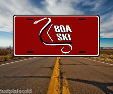 Boa Ski vintage snowmobile style license plate red logo