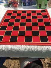 Vtg Game Board Only Checkers/chess/ Backgammon/ Aces Deuce Milton Bradley MB Vgc