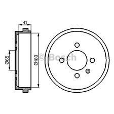 ORIGINAL BOSCH Bremstrommel VW Lupo Bj.98- - 0 986 477 105