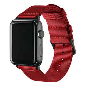 Nylon Canvas Band Bracelet For Apple Watch SE 6 5 4 3 2 1 iWatch Strap 42mm 44mm