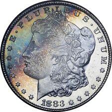 1883-CC GSA NGC 64+PL Morgan Dollar great color, rare PL color!